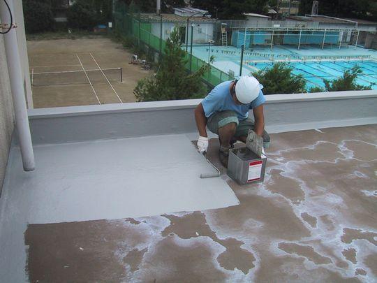 屋上改修工事